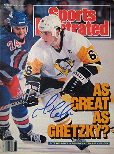 (Lemieux, Mario 2/6/89 autographed)