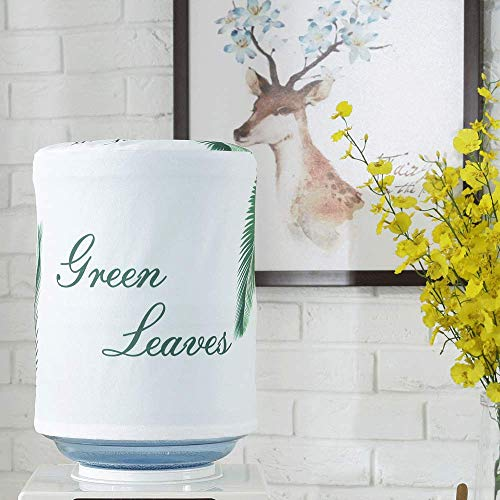 MiDubi Water Dispenser Barrel Covers, Durable Fabric Bucket Decor, Reusable Furniture Standard Cover Protector for Home, Office and 5 Gallon Water Bottle (Greenery)