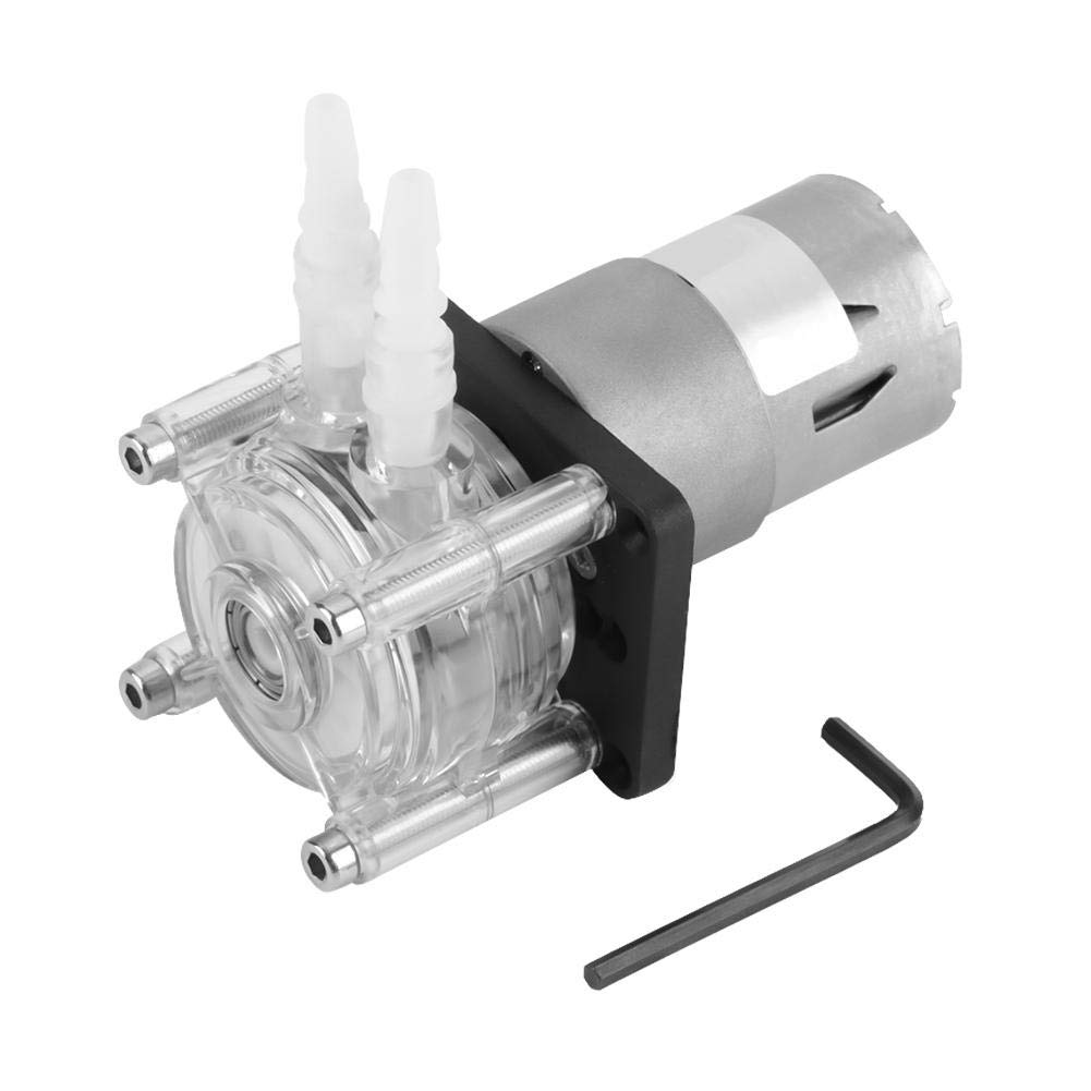 DC 12V High Flow Peristaltic Pump Tube Vacuum Miniature Dosing Pump Hose Pump for Aquarium Lab Analytical Water 6.4mm ID×9.6mm OD by Wal front
