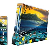 Animal Illustration Wii (Includes 1 Controller) Skin - Island Sunset Vinyl Decal Skin For Your Wii (Includes 1 Controller)