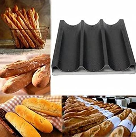 Non-stick 3 Loaf Mold French Bread Pan Loaf Baking Mold by STCorps7 - Non Stick French Bread Pan