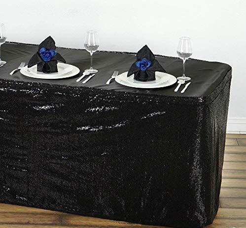 Spacetouch falda de mesa con lentejuelas brillantes, falda de mesa ...