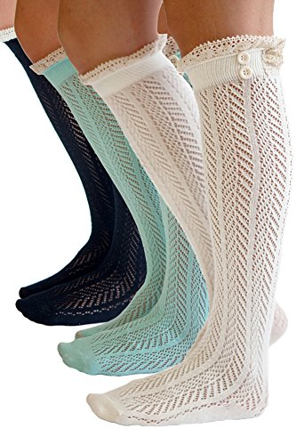 The-Original-Button-Boot-Socks-with-Lace-Trim-Boutique-Socks-by-Modern-Boho