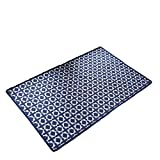 """Vantextile Home Decor Carpet,Living Room Bedroom Area Rug,100% Sturdy Microfibre Polyester, Woven with Pattern, Anti-Static,Floor Heating Suitable.(2'4""""x3'11"""", Blue)"""