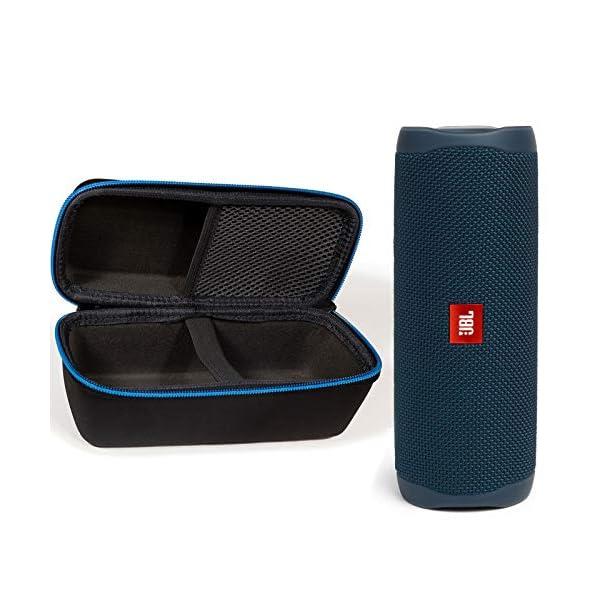 JBL Flip 5 Waterproof Portable Wireless Bluetooth Speaker Bundle with divvi! Protective Hardshell Case
