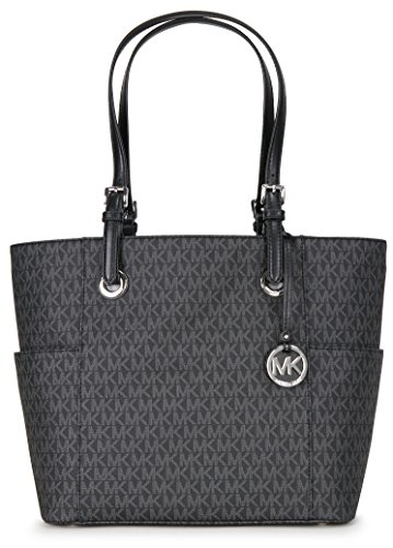 Michael Kors Women's Jet Set Item Ew Signature Tote, Black by Michael Kors