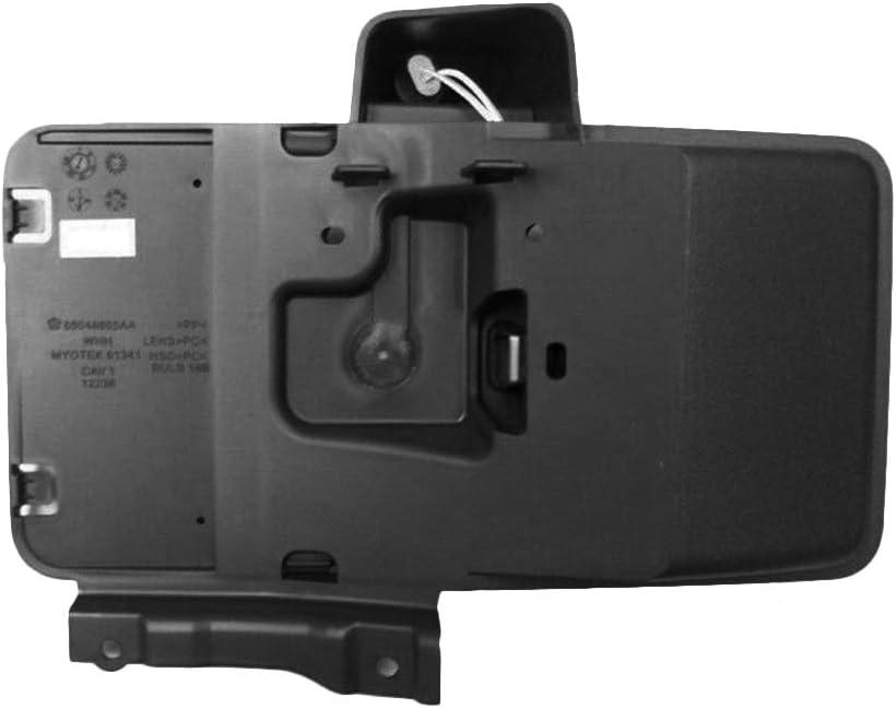 Tickas Soporte Posterior De Placa De Matr/ícula,Placa de matr/ícula trasera Soporte de montaje Negro para Jeep Wrangler JK 2007-2018 11233.07 68064720AA