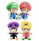 Super Mario Baby Mario Luigi Wario Waluigi Plush Toy Stuffed Animal Soft Figure