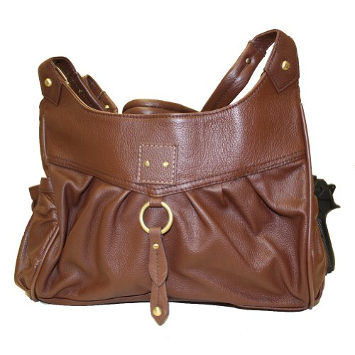 Concealed Carry Purse with Right- or Left-handed Draw - Brown Leather