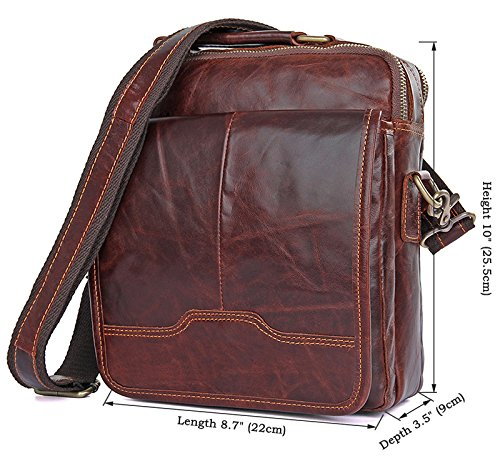 kinokoo Men/'s Business Bag Shoulder Bag for Men Cowhide Bag