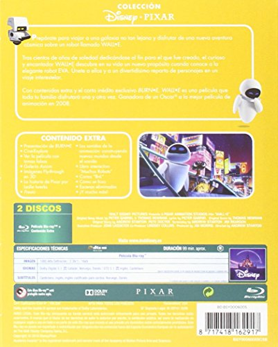 Wall-E [Blu-ray]: Amazon.es: Personajes animados, Personajes animados: Cine y Series TV