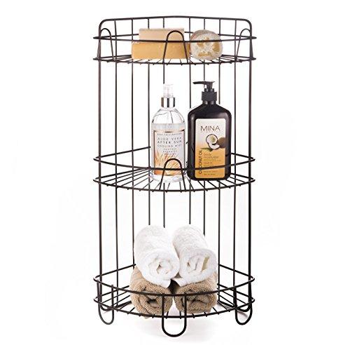 essories Free Standing Bathroom Spa Tower Storage Corner Caddy, FC100006 ORB, Oil Rubbed Bronze ()