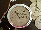 Thank You Mason Jar Labels Canning Jar Stickers Wedding Jar Favors All Occasion Gift Tags