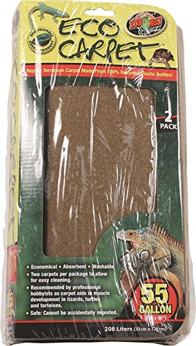 Zoo Med Reptile Cage Carpet for 55 Gallon Tanks, 48 x 13-Inches