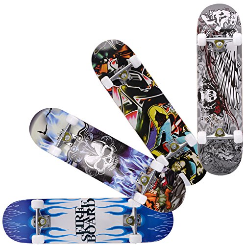 Read About Costzon 31 x 8 Complete Skateboard Maple Deck Wood Professional Skate Board