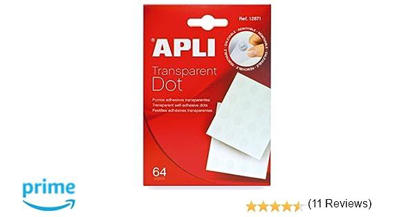 APLI 12871 - Pack de 64 puntos adhesivos doble cara removibles ...