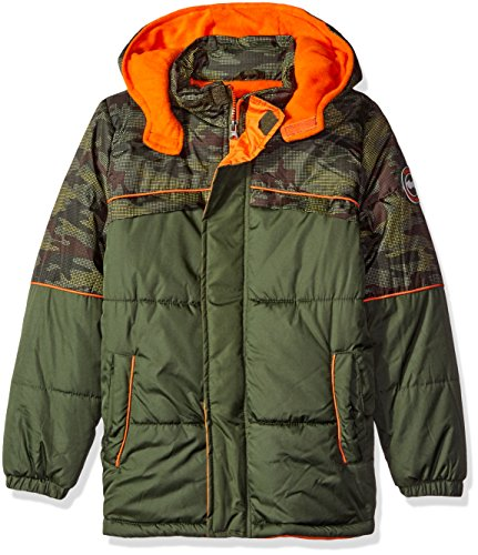 - iXtreme Baby Boys' Camo with Grid Cut and Sew Puffer, Forest, 24 Months