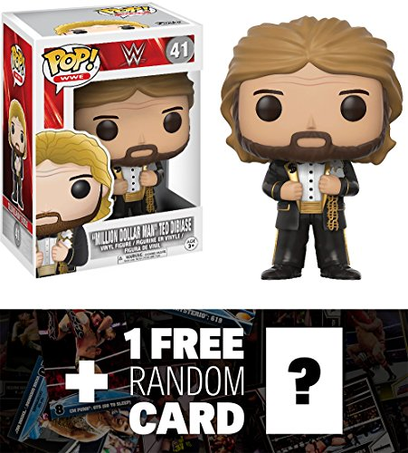 ''Million Dollar Man'' Ted Dibiase: Funko POP! WWE x WWE Vinyl Figure + 1 FREE Official WWE Trading Card Bundle (14254) by Funko