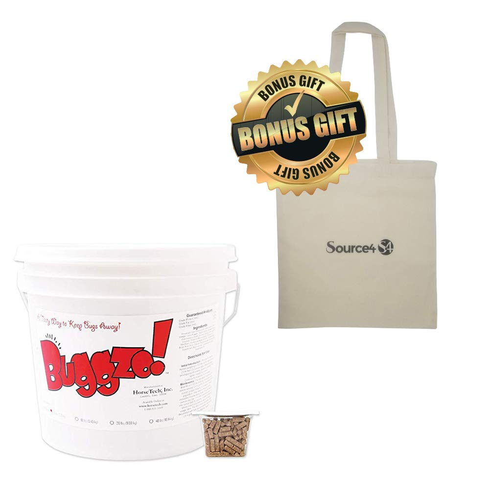Source4S4 Horse Tech 5Lb Buggzo Bundle+Bonus 15 1/2'' X15'' NaturalTote by Source4S4 (Image #1)