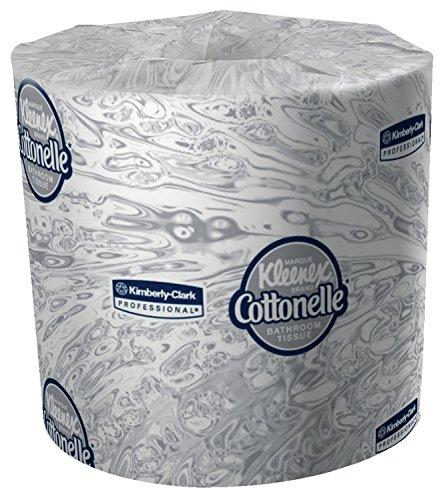 "Kimberly-Clark Professional 17713 Kleenex Cottonelle Bathroom Tissue with  60 Rolls per Case, 4.09"" x 4"", 172.46"