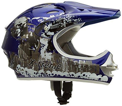 Motorradhelm Kinder Cross Helme Sturzhelm Schutzhelm Helm für Motorrad Kinderquad und Crossbike Modell Design 2015 in blau (Large)
