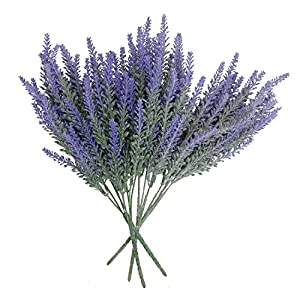 Houseables Artificial Lavender Flower, Purple 9