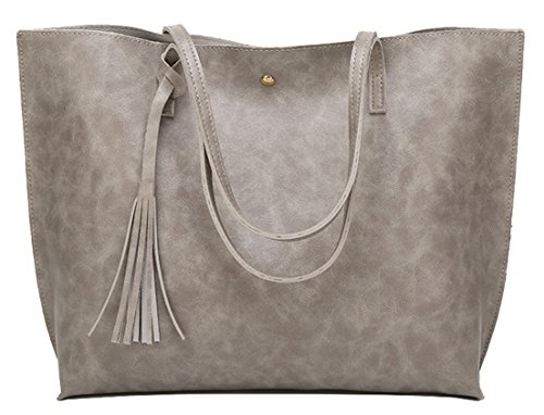 Handbags Bags Gray Shoudler for Pu and Women Leather Tote Green Girls Seaoeey Single 7SqpXvq