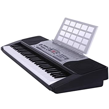 Puzzle de Piano Teclado De Entrada para Niños Teclado para Principiantes Teclado LCD De 61 Teclas Imitación para Piano Negro: Amazon.es: Juguetes y juegos