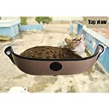 Zantec Nido de gato con Lechón Pet Cat Window Hamaca Strong Suction Cups Cómodo nido cálido con tapete