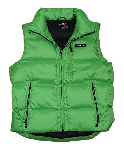 RALPH LAUREN Polo RLX Mens Quilted Down Vest Puffer Zip Jacket Green Medium