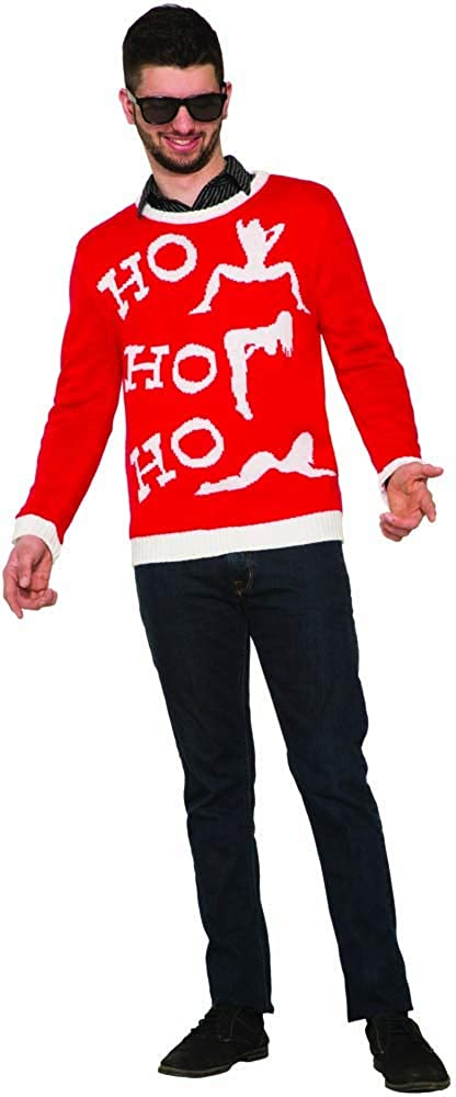 Forum Novelties Men's Ugly Christmas Sweater, Ho Forum Novelties Costumes 79650