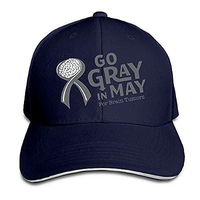 Youbah-01 Women's/Men's Go Gray In May Brain Tumors Adult Adjustable Snapback Hats Dad Hat