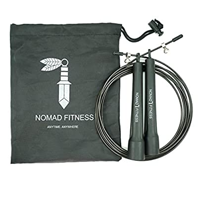 NOMAD FITNESS Premium Quality Cross Fit Jump Rope | Boxing Fitness Training | MMA Skipping Rope for Men and Women for Training |Cardio Training Fitness Rope | Adjustable Speed Rope for Cardio Training
