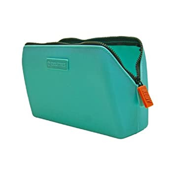 75d90d6225ed Amazon.com   Tooletries Essentials bag - silicone toiletry bag cosmetic bag  leak resistant travel kit (Turquoise)   Beauty