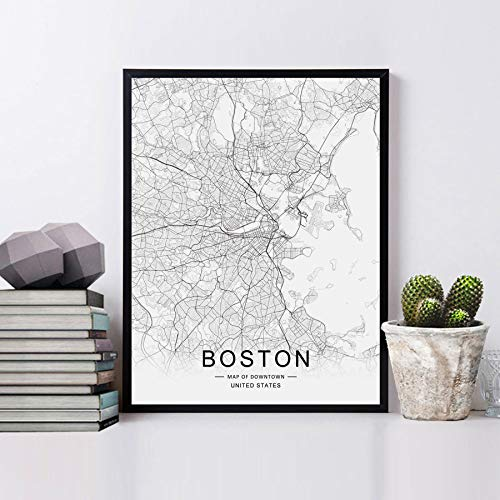Amazon.com: Boston Street Map Print Boston Map Decor City ... on map lamp shade, map room divider, map travel, map venezuela flag, map in india, map in europe, map with states, map facebook covers, map cornwall uk, map tools, map recipe, map cross stitch, map of montana, map with mountains, map se usa, map color, map games, map design, map with title, map example,