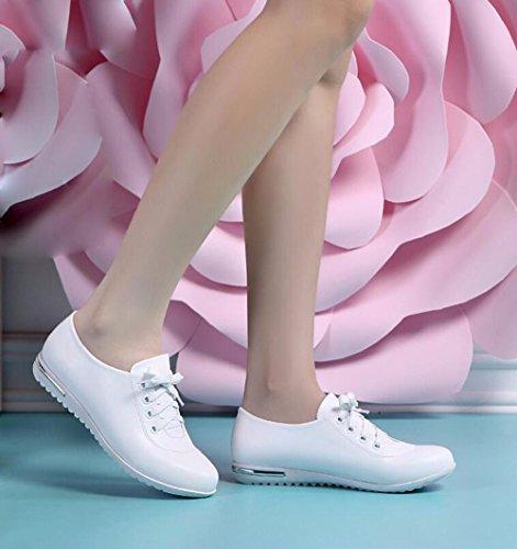 KPHY White white Cuoio Scarpe Piatta Scheda Versatile Scarpe Cinghia Donne Snow Di Scarpe E 55wYrqO
