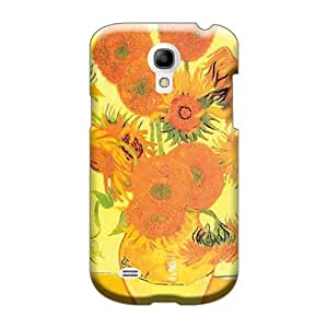 Perfect Hard Cell-phone Cases For Samsung Galaxy S4 Mini With Customized Vivid Sunflowers Image AshleySimms
