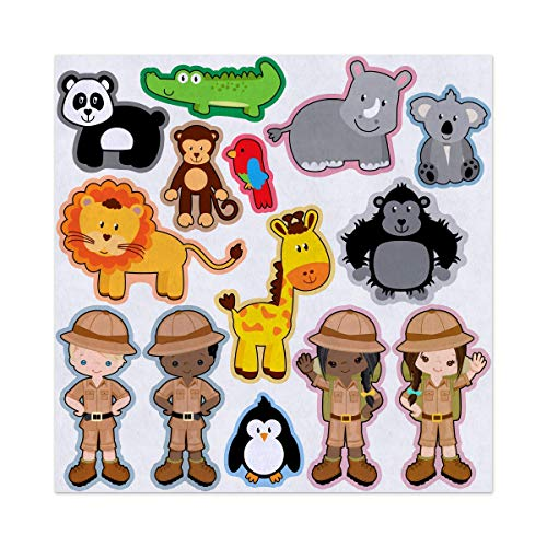 Zookeepers and Zoo Animals Felt Play Art Set Flannel Board Story Storyboard Pieces