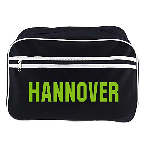 Retrotasche Schriftzug Hannover schwarz