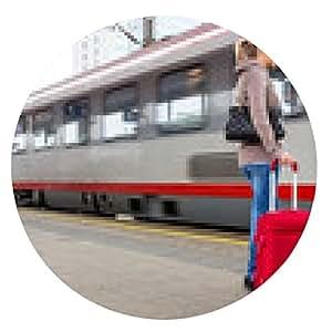 alfombrilla de ratón Mujer esperando el tren en la estación de tren - ronda - 20cm
