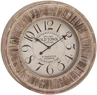 Deco 79 52139 Wood Wall Clock 31 D