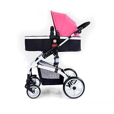 Cochecito Bebé Cochecito Calesa Paseante Llevar Cuna Viajar 2 en 1 (Color : Pink)