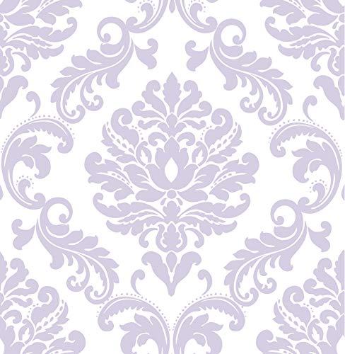 (Wall Pops NU1396 Purple Ariel Peel and Stick Wallpaper )