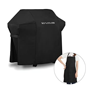 Suxman Funda para Barbacoa Impermeable,Funda protectora BBQ, Cubierta Anti-UV Transpirable,
