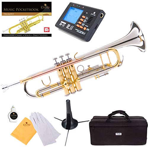 Cheap Mendini MTT-30CN Nickel Plated Intermediate Double-Braced Bb Trumpet intermediate trumpet
