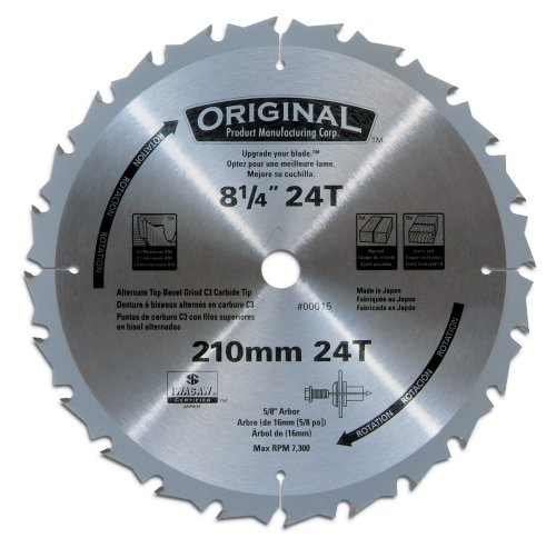 Original 00015 8-1/4-Inch 24 Tooth ATB General Purpose Saw Blade with 5/8-Inch Arbor (Chop Top Ca compare prices)