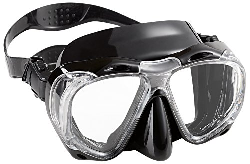 Whale® MK701 Adult BLACK Scuba Diving Mask Goggles - Cheap Scuba Goggles