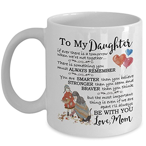 My Cuppa Joy Gifts For Daughter - Mother Daughter Gift Coffee Mug - 11oz Novelty Ceramic Tea Cup - Great Present Idea For Christmas, Xmas, Birthday, Wedding, Graduation For Her