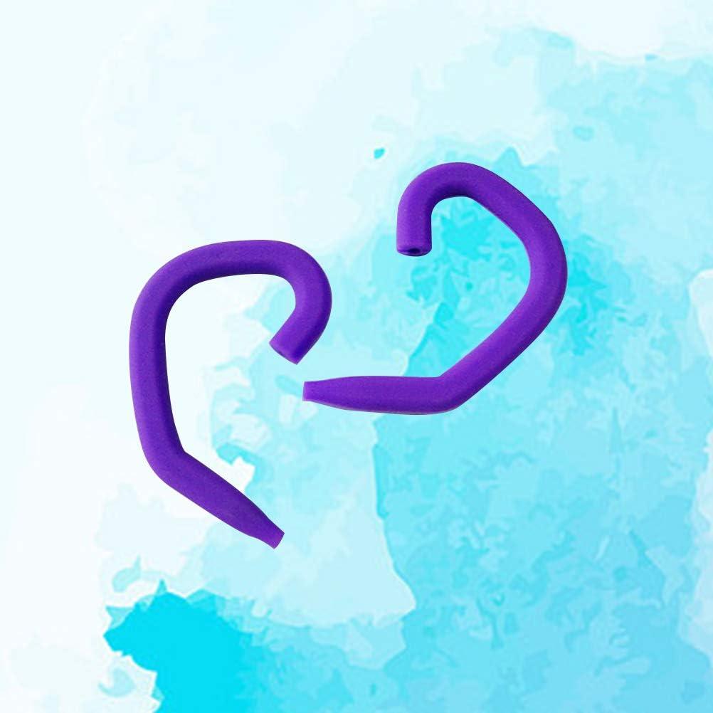 Hemobllo 1 Pair of Silicone Earphone Clip Hook Earhook Ear Hook Hanger for Universal Headset Earphone Random Color
