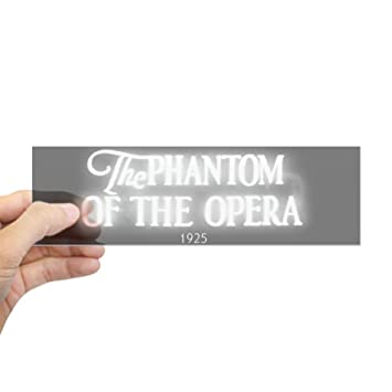 Cafepress the phantom of the opera 1925 bumper sticker 10x3 rectangle